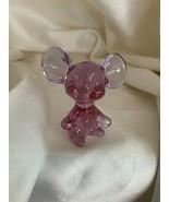 Fenton Art Glass Dusty Rose Pink Mouse Figurine - $49.00