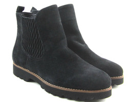 Earthies By Earth Madrid Women's Black Suede Comfort Chelsea Ankle Boots Sz 6 B - $38.20