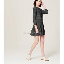 Nwt Ann Taylor Loft Geo Stripe Flippy Stylist Cute Adorable Fall Winter Dress - $69.99