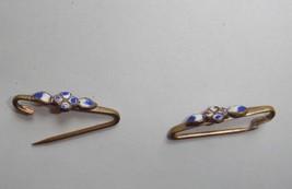vintage pins (set of 2) enameled flower design - $4.95