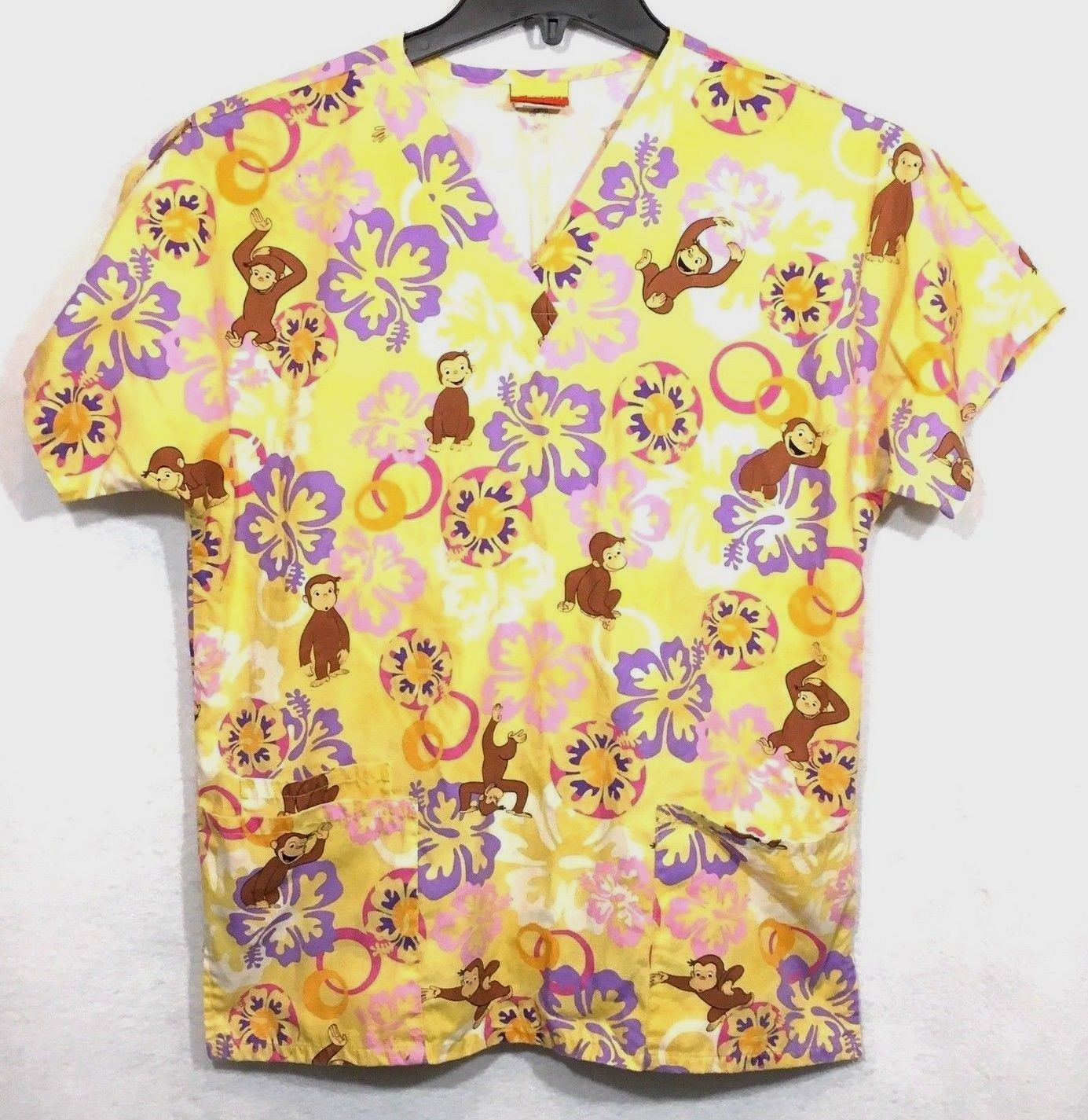 c5349d21853 Curious George S Small Scrub Top Yellow and 43 similar items