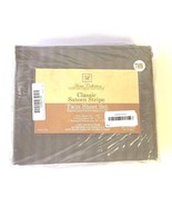 Home Collection Twin Size Silver Classic Sateen Dobby Stripe Sheet Set - $24.52