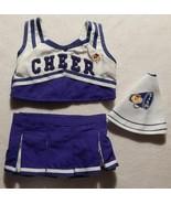 Build A Bear Cheerleader Outfit Blue, White 3 Piece Top Skirt  Megaphone... - $10.99