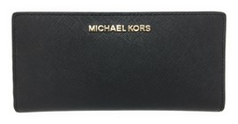 Michael Kors Leather Card Case Carryall Wallet w/ Removable ID Card Holder  - $97.95