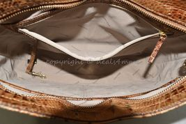 NWT Brahmin Noelle Leather Tote / Shoulder Bag in Toasted Almond Melbourne image 3
