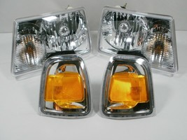 For 2006-2011 Ford RANGER Headlights and park turn signal lamps with NEW BULBS - $152.22