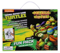 Ninja Turtles Pop-Outz Fun Pack Coloring & Play with over 50 Pieces Fun ... - $6.79