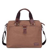 14-inch Man Bag Handbag Shoulder Bag Canvas Messenger Bag Briefcase Comp... - $54.23