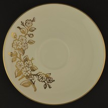 Knowles Apple Blossom Flat Cup Saucer Vintage China Replacement Tableware Gold - $6.99