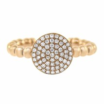 0.38CT DIAMOND 14K ROSE GOLD STACK ABLE RING SIZE 7 - £351.82 GBP