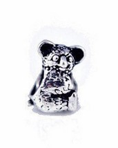 NICE Koala Charm bead fit jewelry Sterling Silver .925 - $26.68