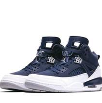 0cf15f5da42a8e Nike Air Jordan Spizike Midnight Navy Metallic Silver White 315371-406  .