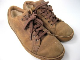 UGG  Australia Tan Distressed Leather Sneakers Mens size 7.5 (EU 40) S/N... - $23.91