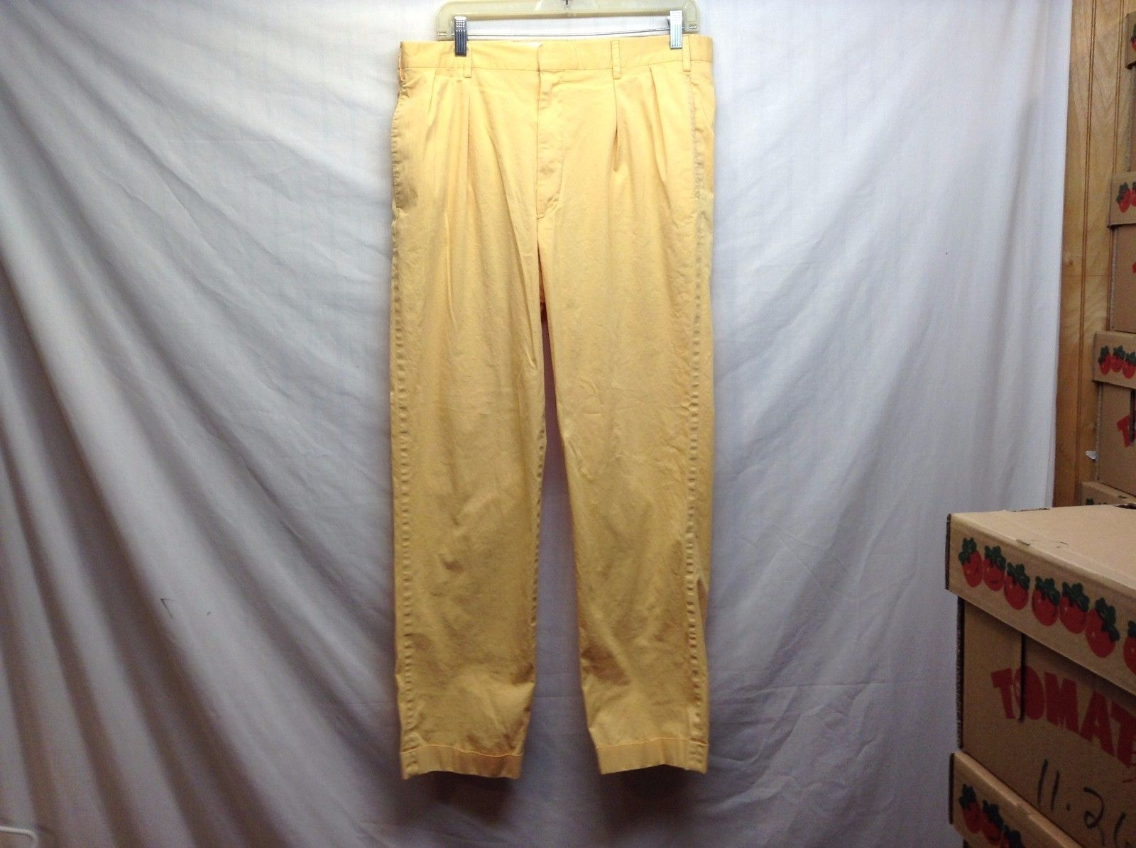 Ben Silver Charleston Mustard Yellow Cuffed Pants