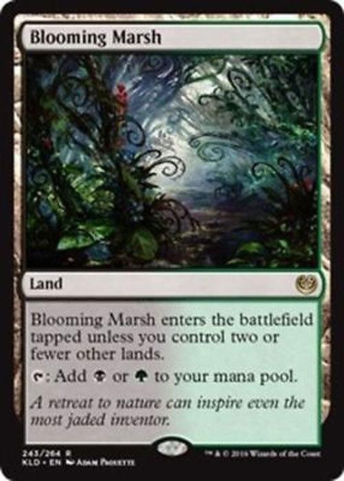 "Magic the Gathering MTG ""Blooming Marsh"" Land Card x1 * NM"