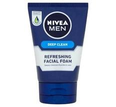 NIVEA Men Deep Clean Facial Foam 100g-Remove Dirt & Reduce Blemishes - $18.80
