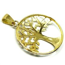 Pendant Gold 750 18K, Yellow White, Tree of Life, Leaf Root, Pendant image 4