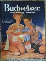 1960 Budweiser Beer Where there's Life there's Bud Picnic Photo Magazine AD - $8.99