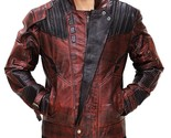 Peter Quill Guardians Of Galaxy 2 Chris Pratt Star Lord Costume Leather Jacket - $1.937,24 MXN