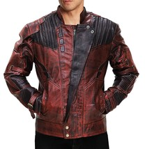 Peter Quill Guardians Of Galaxy 2 Chris Pratt Star Lord Costume Leather Jacket image 1