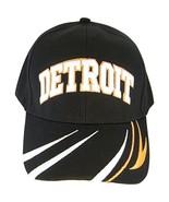 Detroit Men's Striped Bill Adjustable Baseball Cap (Black) - $11.95