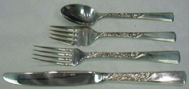 Rose Motif By Stieff Sterling Silver Regular Size Place Setting(s) 4pc - $179.10