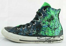 Converse Chuck Taylor Ragazzi Bambini Sneakers Hi Top Verde Blu Lacci Mi... - $22.98