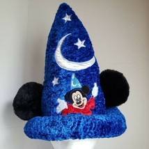 Disney Fantasia Mickey Mouse Ears Tall Wizard Hat Size Small - $29.02