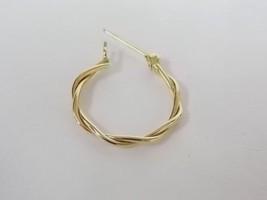 Single Vintage Estate 14K Yellow Gold Hoop Earring .65g E1330 - $35.00