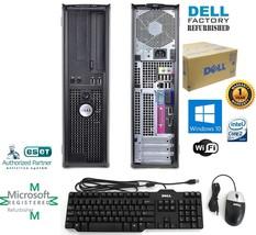 Dell OptiPlex PC COMPUTER DESKTOP 250GB HD Intel 4GB RAM Windows 10 HP 6... - $135.56