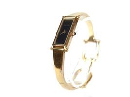 Auth GUCCI 1500L Black Dial Gold Plated Band Women's Quartz Watch GW8912L - $210.98 CAD