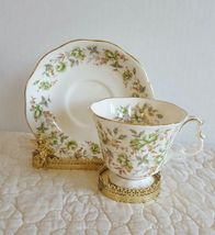 ROYAL ALBERT Rose Chintz Series Green Velvet Tea Cup and Saucer EUC Ship... - $19.99