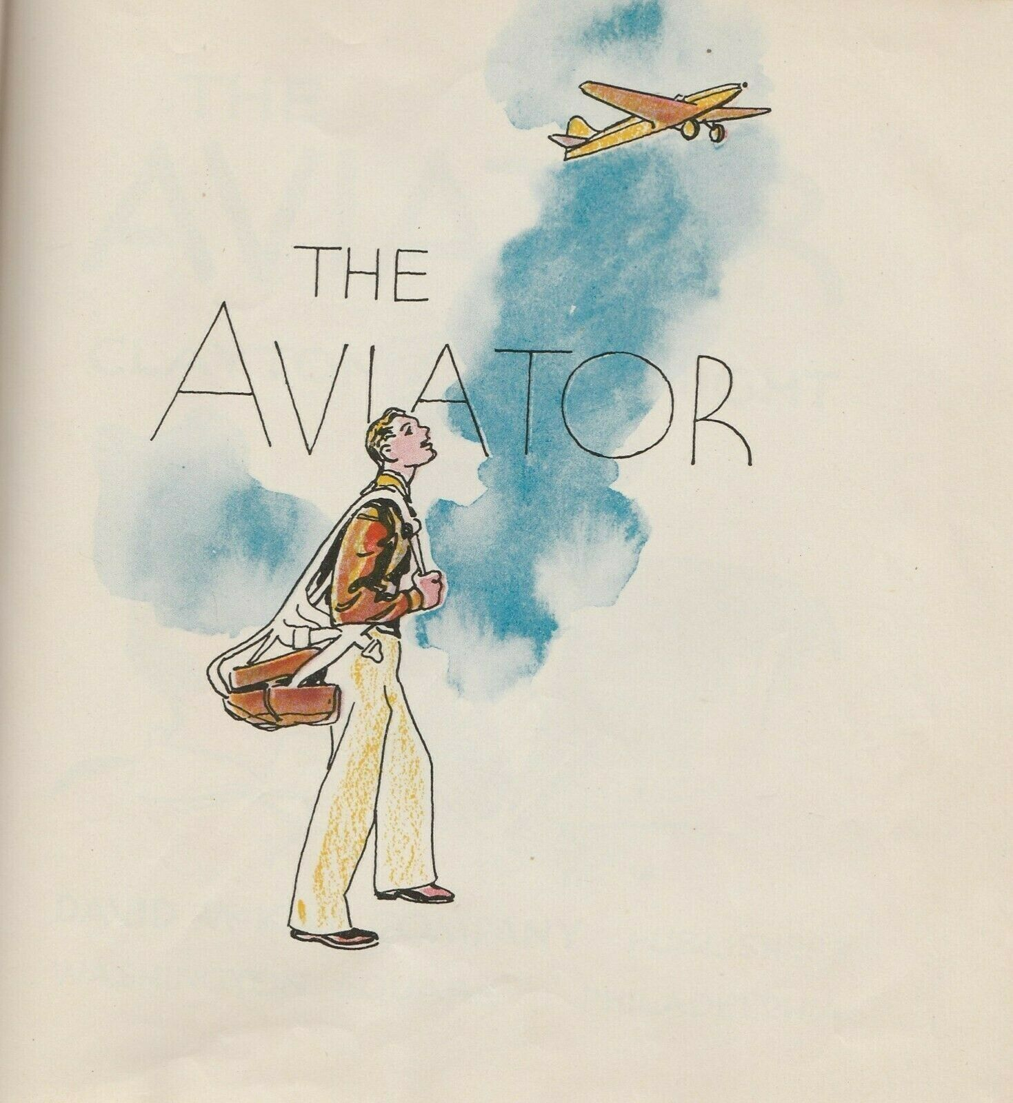 The Aviator by Clayton Knight 1947 Vintage Children's Book RARE Aviation