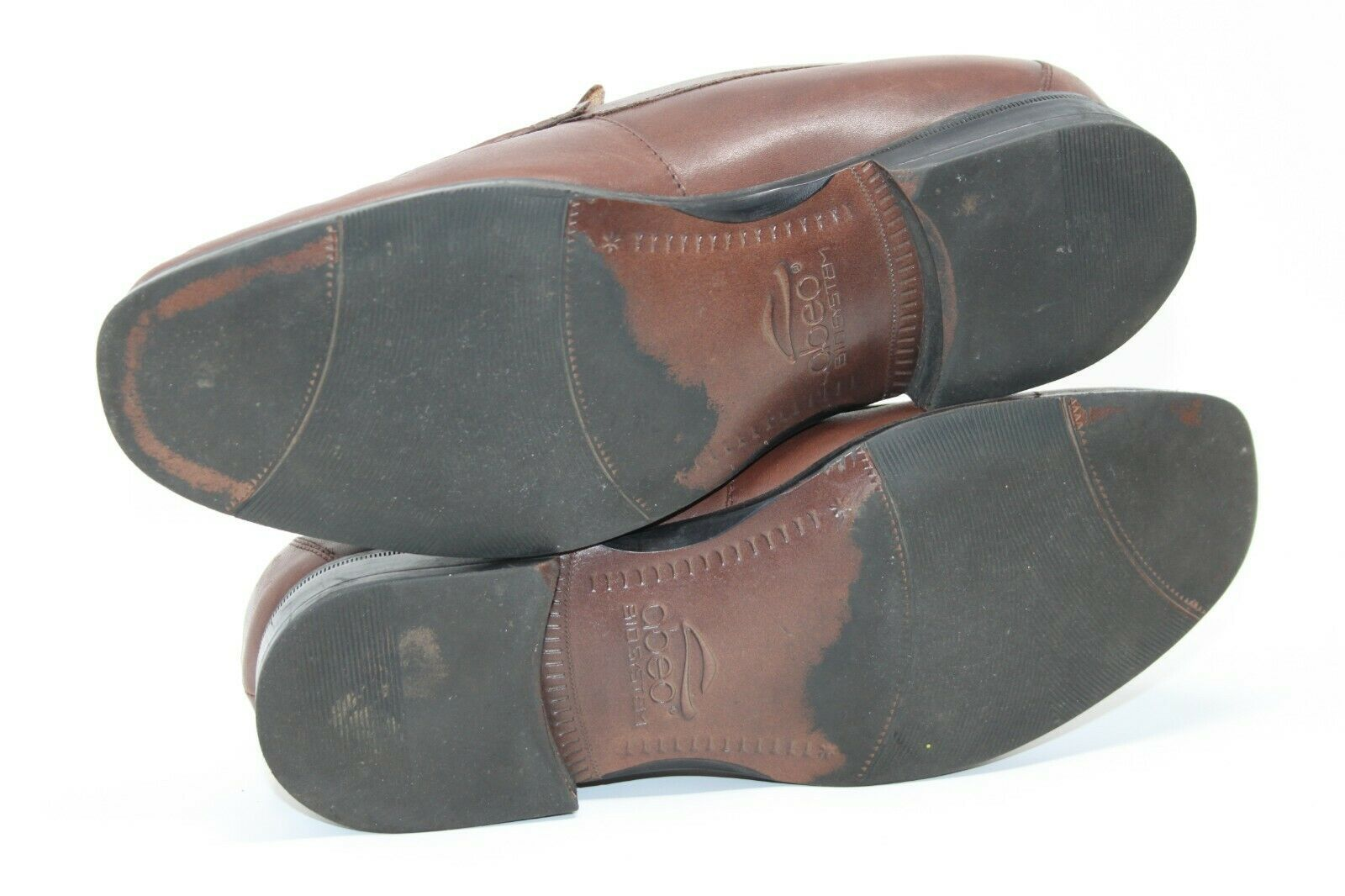 Abeo BIO Size 11 Brown Leather Comfort Slip On Soft Supple Leather Dress Shoes