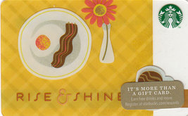 Starbucks 2014 Rise And Shine Collectible Gift Card New No Value - $4.99