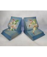 Pair Vintage Blue Roseville Snowberry Bookends 18-E - $222.75