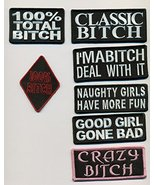 Classic, Hot, Independent and Sassy Lady 7 Embroidered Patch Collection - $29.21