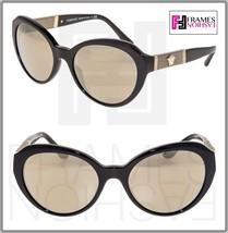 Versace Leather Medusa Sunglasses VE4306Q Black Gold Mirrored 4306 Women - $212.85