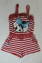 Disney Store Girls Romper Size 5 6 Minnie Mouse Red White Shortset Sprin... - $21.77