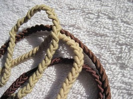 2 Goody Ouchless 3 Strand Braided Color Collection Hair Head Bands Blonde Brown - $5.00