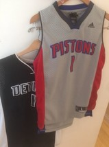 2 Detroit Pistons Billups Jerseys Youth 14-16 Adidas Reebok #1 - $19.78