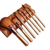 7Pcs Foundation Powder Concealers Eye Shadows Makeup Brush Sets(Khaki)