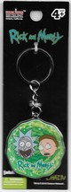 Rick & Morty Animated TV Series Faces In Portal Colored Metal Key Ring K... - $9.70