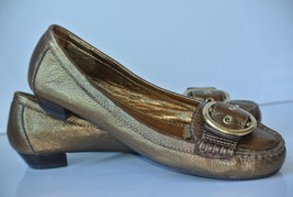 Coach Karly Womens Sz 6.5 M Gold Leather Ballet Flats Loafers NICE!! - $34.64