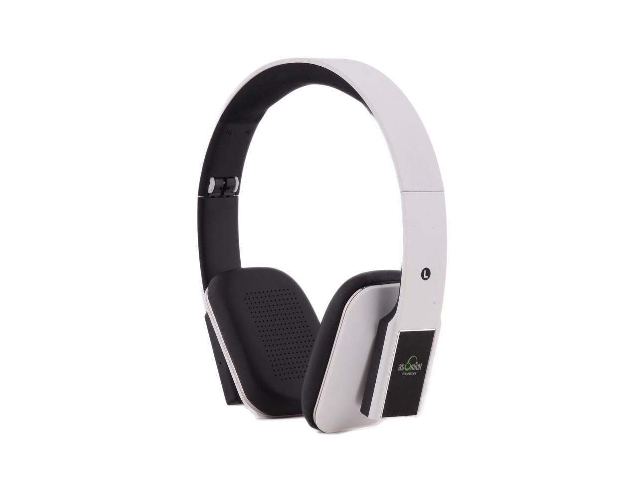 idea usa atomicx hp001bt w bluetooth headphone with mic white