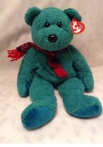 "TY Beanie Buddy ""WALLACE"" the 14"" HOLIDAY WINTER Bear - SUPER SOFT - $23.21"