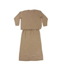 NOS Vintage 90s Eddie Bauer Womens 1X Knit Stretch Sweater Skirt Suit Ta... - $49.45