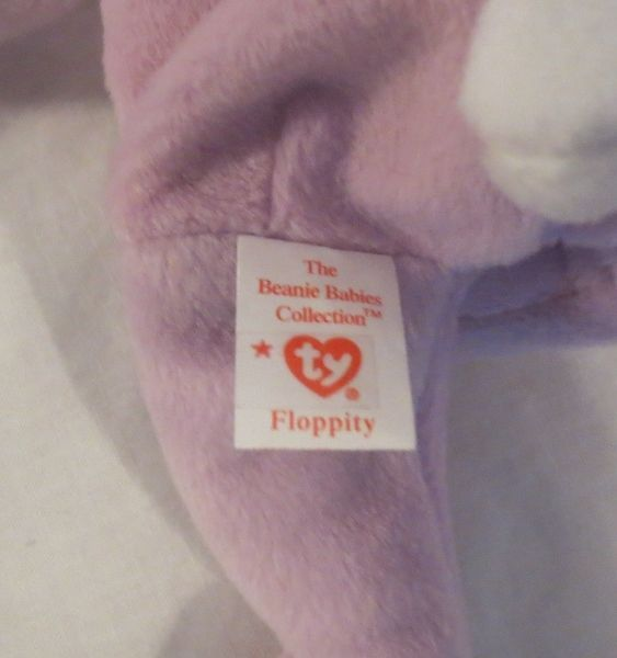 Ty Beanie Baby Floppity 3rd Generation Tush Tag with Sticker NO HANG TAG