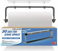Adhesive Paper Towel Holder, Under Cabinet or Wall Mount, No Drilling
