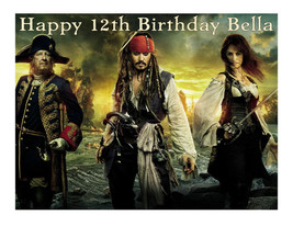 Pirates of the Carribean edible cake image cake topper party decoration - $7.80